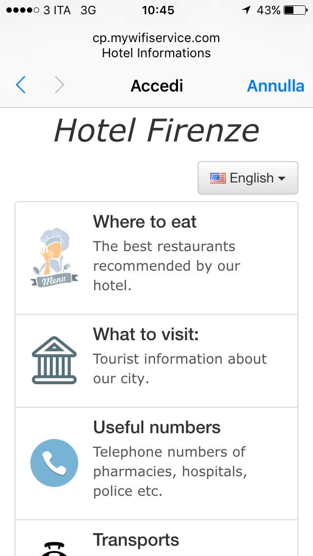hotel informations
